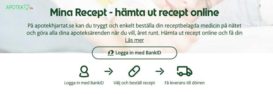 hämta ut recept online